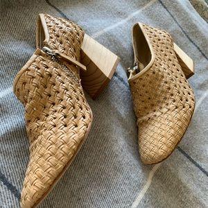 Freda Salvador closed toe/heel sandals.